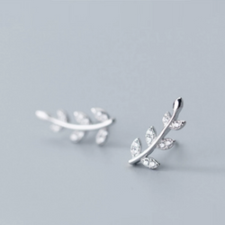 Leaf Climber Studs - 925 Sterling Silver