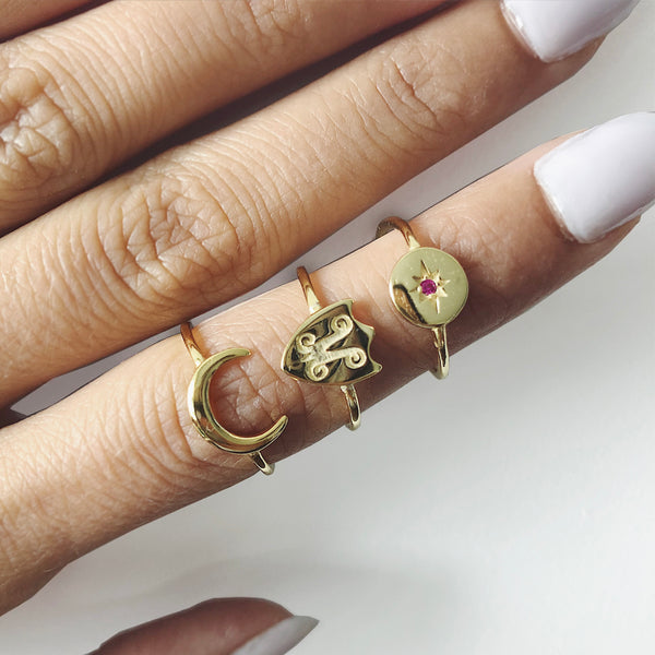 Moonchild - 14K Gold Vermeil Ring