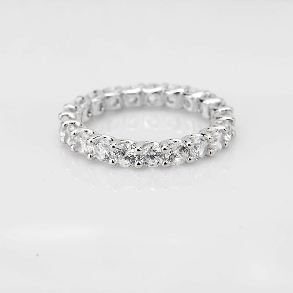 Stackable Solstice Eternity Band - 925 Sterling Silver