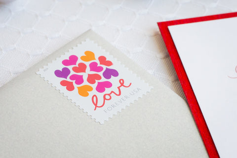 Hearts Blossom Stamp