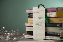 Library Check-Out Card Wedding Bookmark Place Card Favors