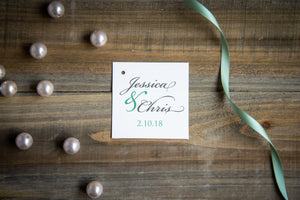 Large, Square, Favor Tags