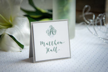 Square, Layered Place Card Tents