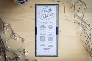 Triple-Layered, Ceremony Program Cards with Ribbon