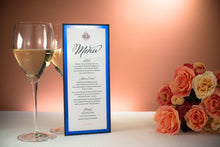 Triple-Layered Menu Cards