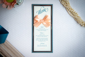 Triple-Layered Menu Cards with Bows