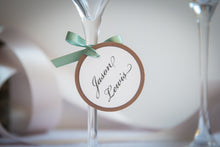 Round, Layered Place Card Tags