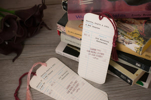 Library Check-Out Card Wedding Bookmark Favors