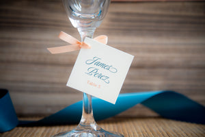 Square, Place Card Favor Tags