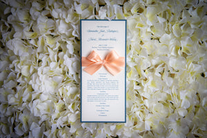 Ceremony Program Cards with Bows