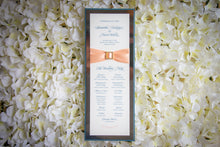 Large, Triple-Layered Ceremony Program Cards with Crystal Rhinestone Buckles