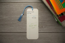 Library Check-Out Card Baby Shower Bookmark Favors