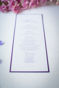Large Menu Cards