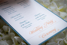 Large, 3-Page, Layered Ceremony Program Cards with Bows