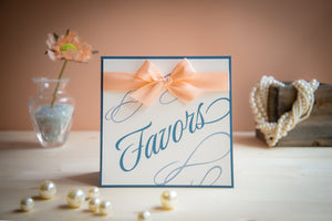 Square, Custom-Wording Personalized Signs with Bows