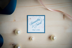 Large, Square, Layered Favor Tags
