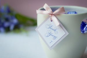 Square, Mini, Layered Place Card Tags