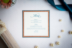 Square, Triple-Layered Menu Cards