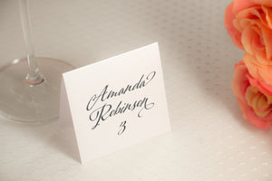 Square, Tented Place Cards
