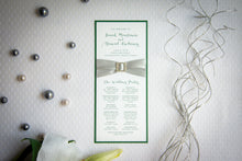Ceremony Program Cards with Crystal Rhinestone Buckles