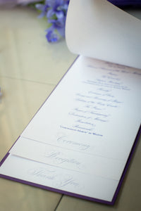 Large, 5-Page, Layered Ceremony Programs with Bows
