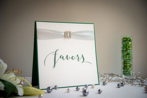 Square, Custom-Wording Personalized Signs with Buckles