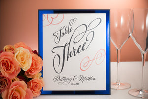 Triple-Layered Table Number Signs