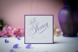 Square, Personalized Table Number Signs