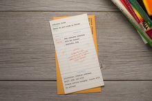 Library Check-Out Card Birthday Party Invitations
