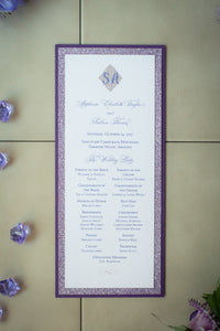 Triple-Layered, Ceremony Program Cards