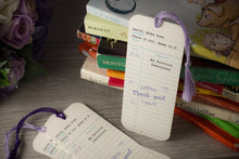 Library Check-Out Card Birthday Party Bookmark Favors