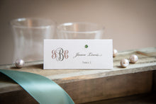Tented Place Cards with Crystal Rhinestones