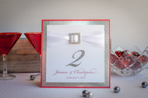Bling & Satin, Sparkling, Personalized Table Numbers