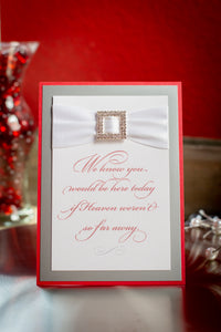 Personalized Signs with Glitter, Ribbon and Buckles