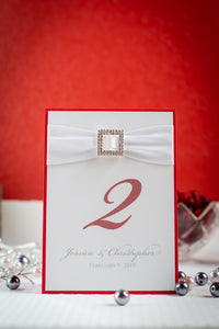 Bling & Satin, Personalized Table Numbers