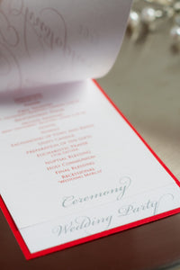 Mini, Layered, Ceremony Programs with Ribbon and Buckles (Set of 5)