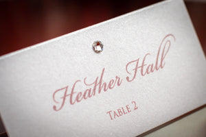 Place Cards with Crystals (Set of 5)