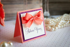 Shimmer-Satin, Sparkling Place Cards