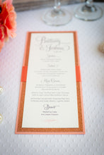 Mini Menu Cards with Glitter and Ribbon (Set of 5)