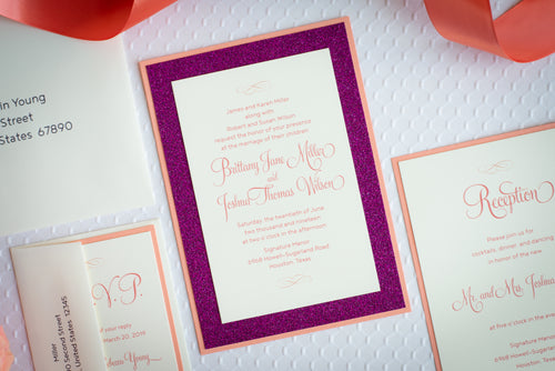 Invitation Suites with Glitter (Set of 5)