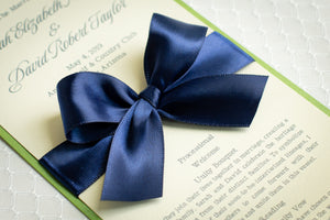 Mini, Ceremony Program Cards with Satin Bows (Set of 5)