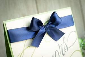 Square Signs with Satin Bows