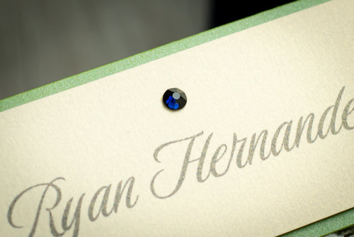 Layered Place Cards with Crystals (Set of 5)