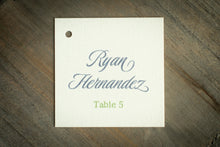 Square Place Card Tags (Set of 5)