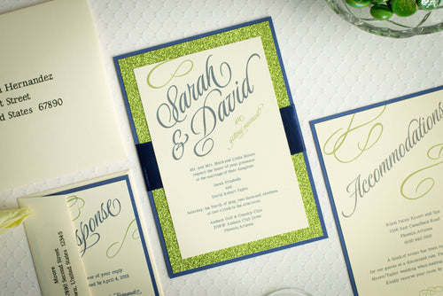 Shimmer-Satin, Sparkling Invitation Suites