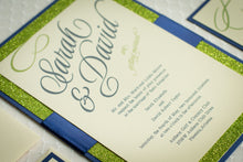 Invitation Suites with Glitter and Ribbon (Set of 5)