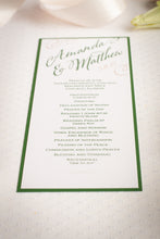 Mini, Ceremony Program Cards (Set of 5)