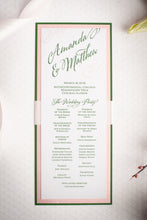 Ceremony Program Cards with Glitter and Ribbon (Set of 5)