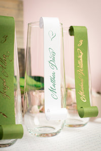 Stemless, Champagne Place Card Scrolls (Set of 5)