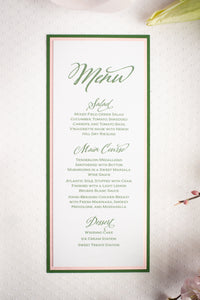 Mini Menu Cards with Glitter (Set of 5)